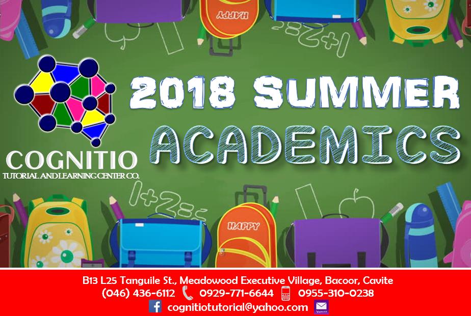 2018 Cognitio Promotion (Summer Academics)
