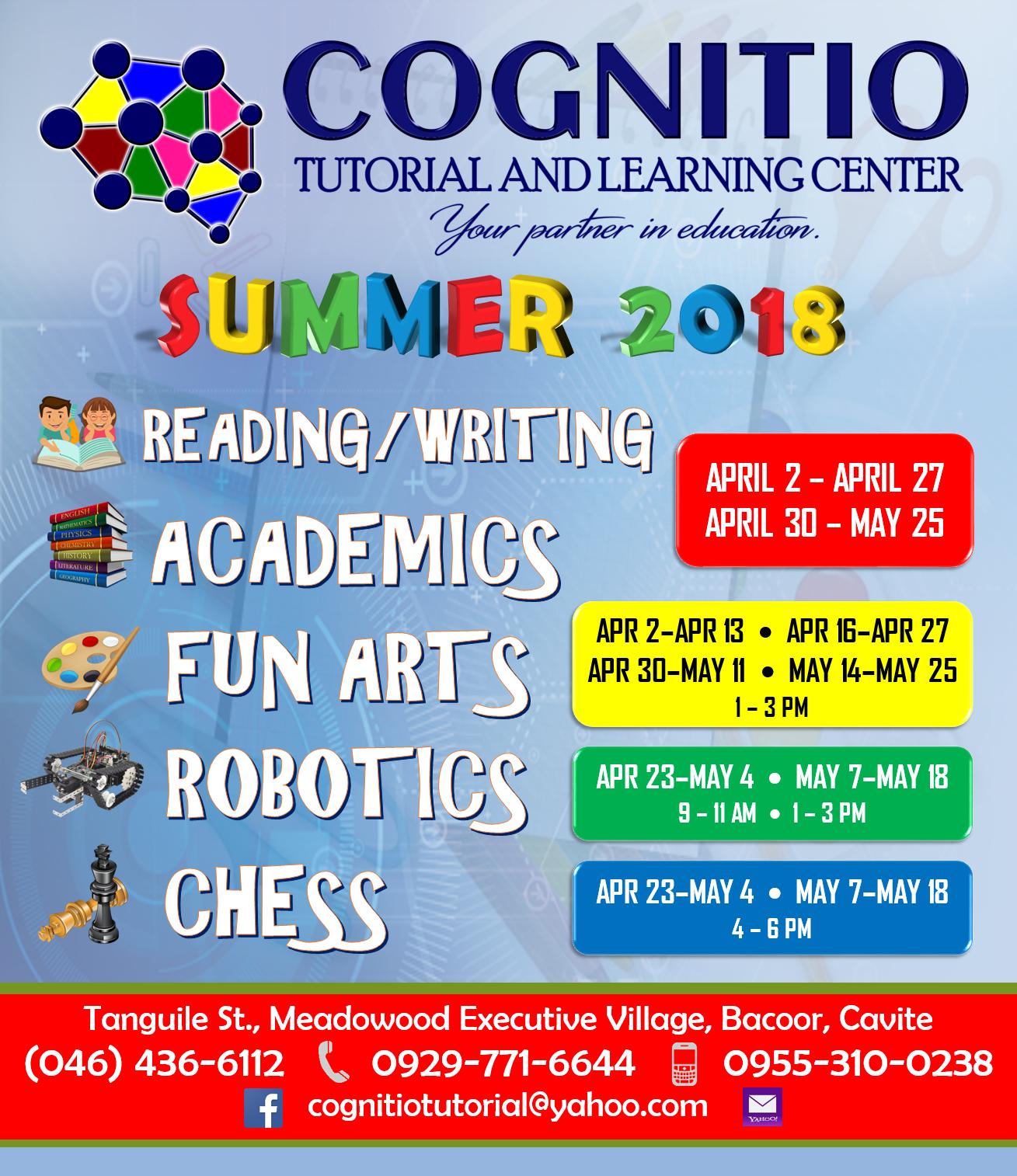 2018 Cognitio Promotion (Summer Programs)