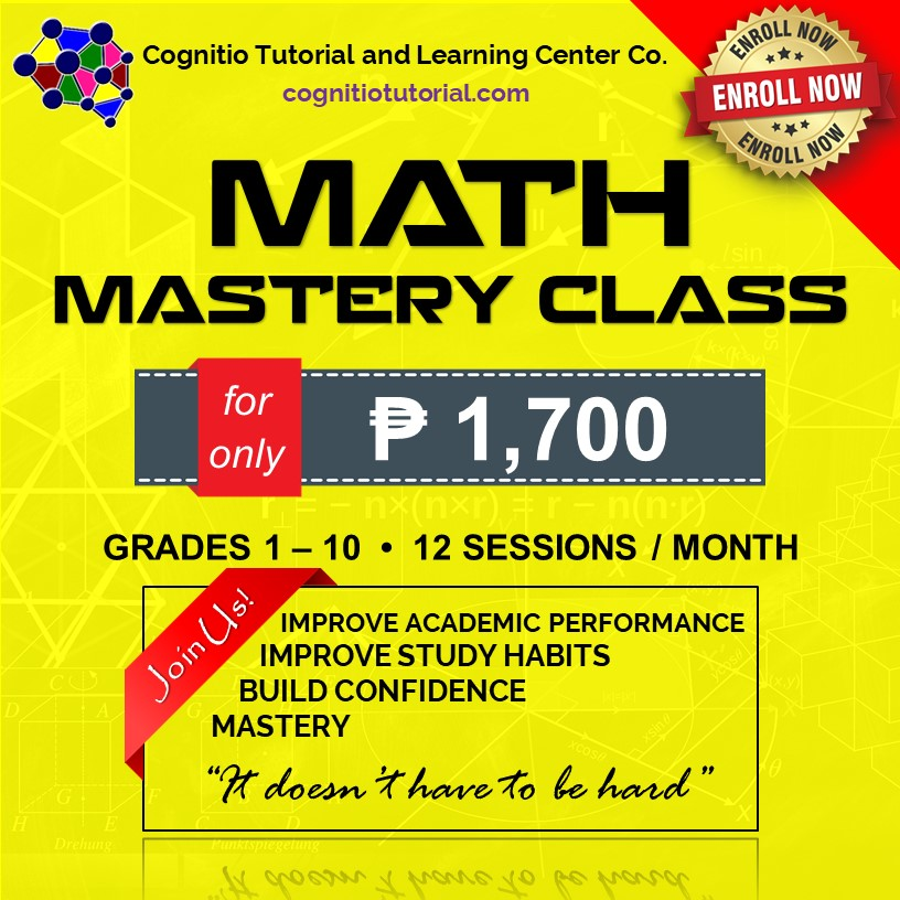 2021 Cognitio Promotion Fix (Math Mastery Class)