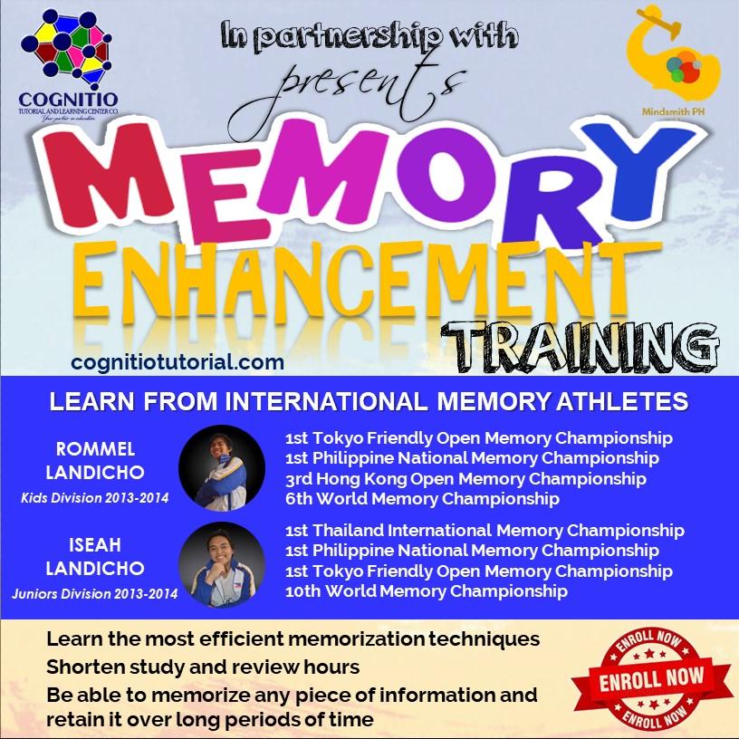 2021 Cognitio Promotion (Memory Enhancement Training)